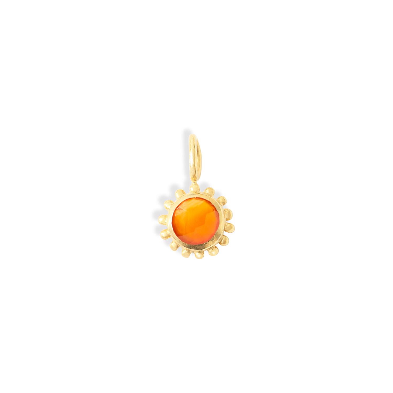 pendentif-soleil-vermeil-Cornaline