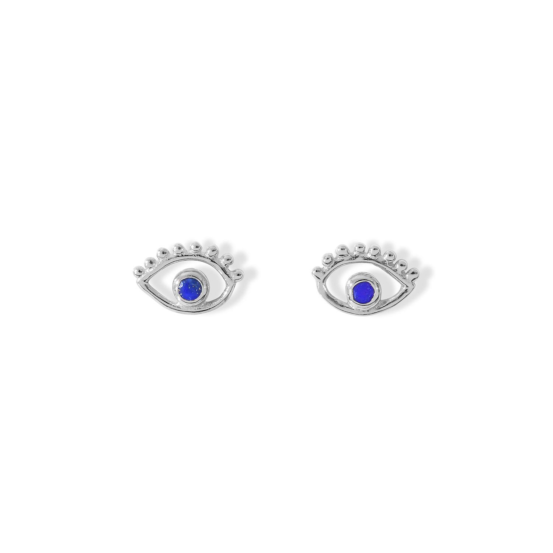 Puces-Ajna-Oeil-Argent-Lapis-Lazuli