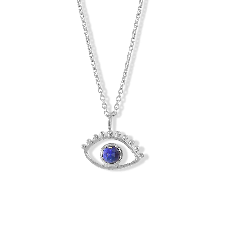 Collier-Ajna-Oeil-Argent-Lapis-Lazuli